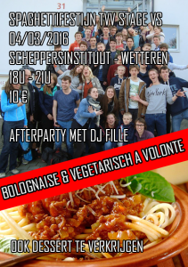 affiche spaghettifestijn 4 maart 2016
